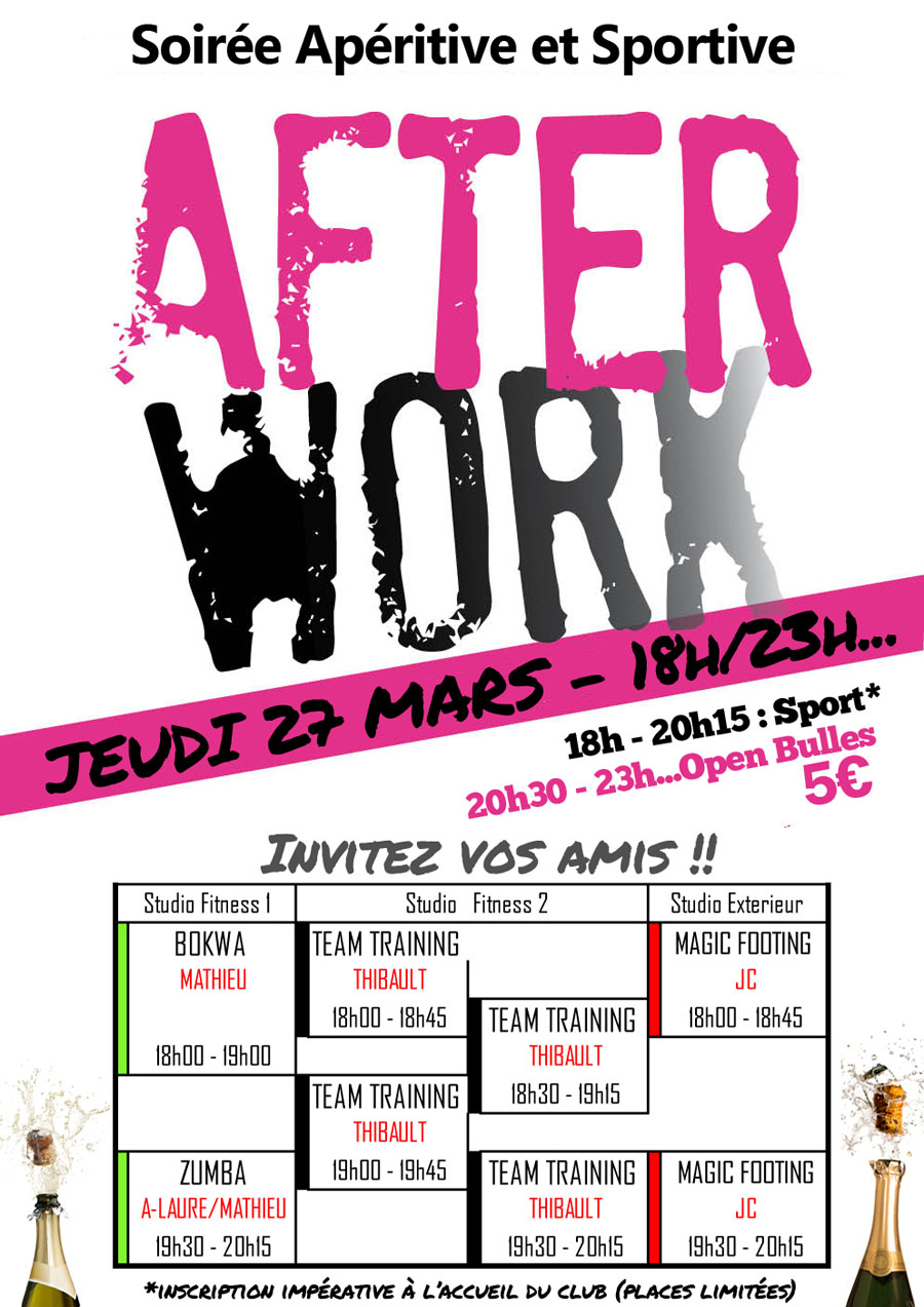 After Work Magic Form Bordeaux, soirée apéritive et sportive